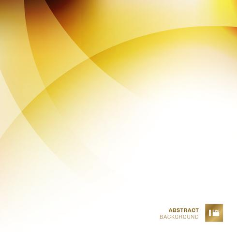 Abstract yellow gradients color overlapping circles background.