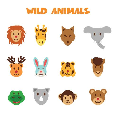 vilda djur ikoner