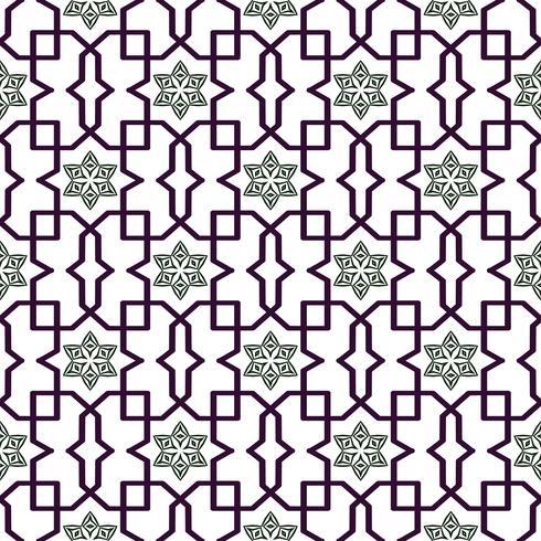 Patrón tradicional árabe enredado. Vector de fondo sin fisuras