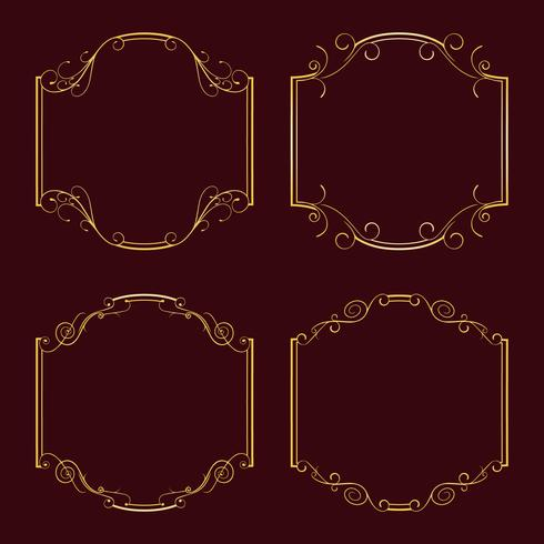Collection frames for decoration. vector