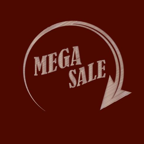 Mega sale. Imitation of embroidery to decorate your ideas. Vector