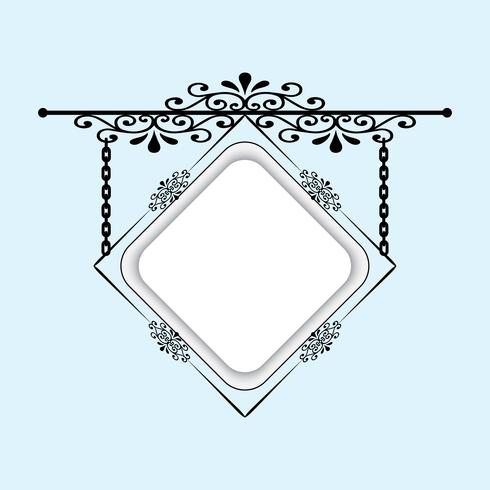 A signboard for decorating your ideas. Can be used as a frame, signboard.