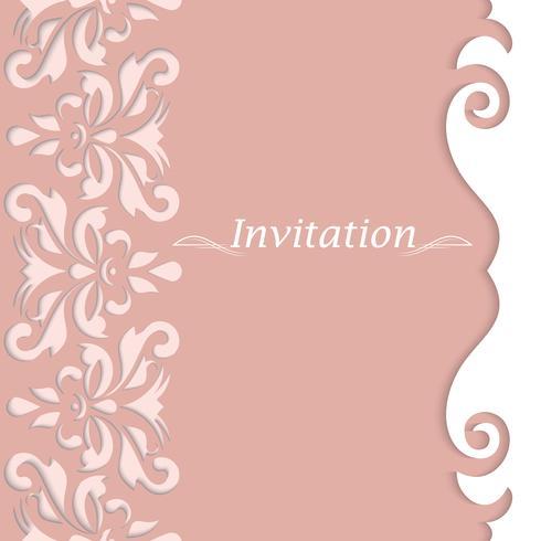 Biglietti d'invito con ornamento vintage. Cartoline belle e lussuose.