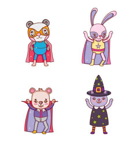 Set van dieren halloween kostuum
