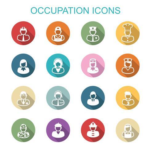 ocupación larga sombra iconos
