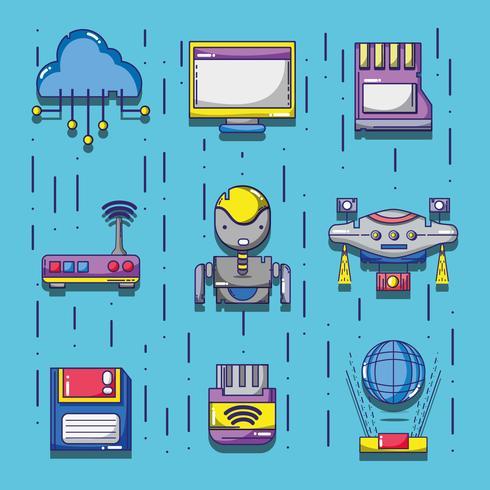 Set Technologie Patches Dateninformationen
