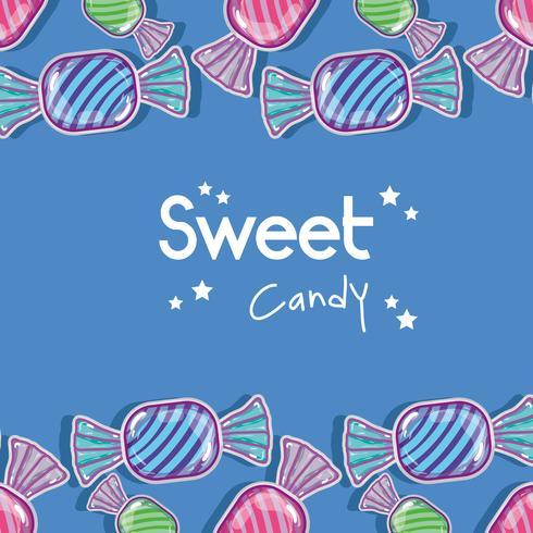 delizioso disegno di sfondo di caramelle dolci