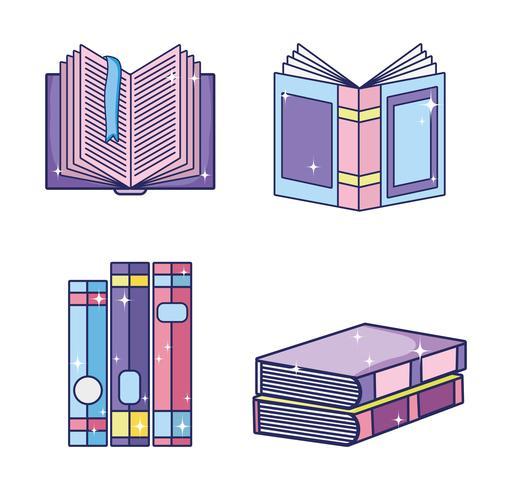 Set of magic books