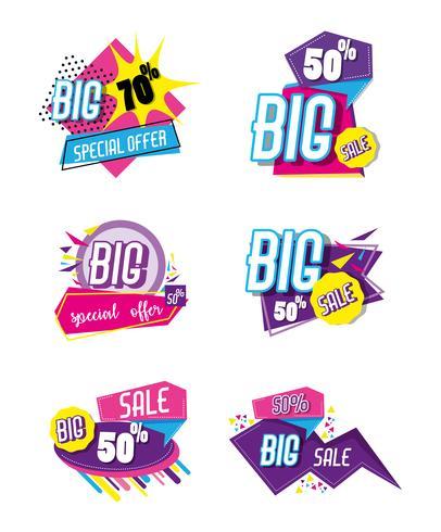 Set di poster dello shopping di grande vendita