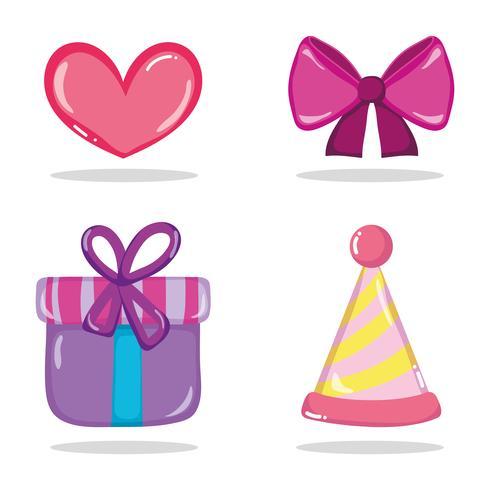 Jogo, de, aniversário, ícones