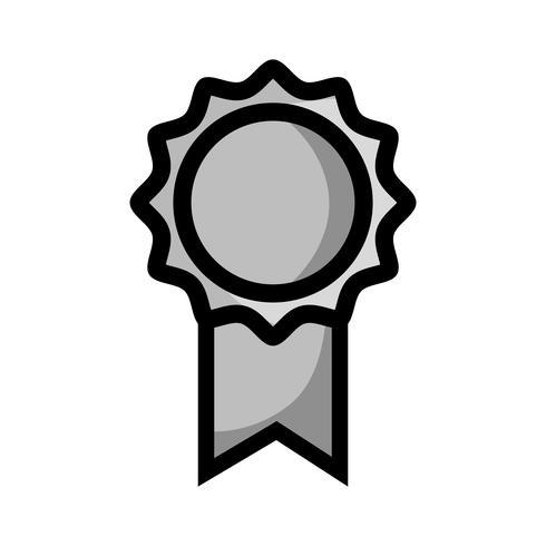 símbolo de medalha de escola tons de cinza para estudante inteligente