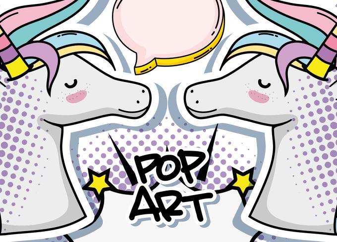 Unicórnio pop art