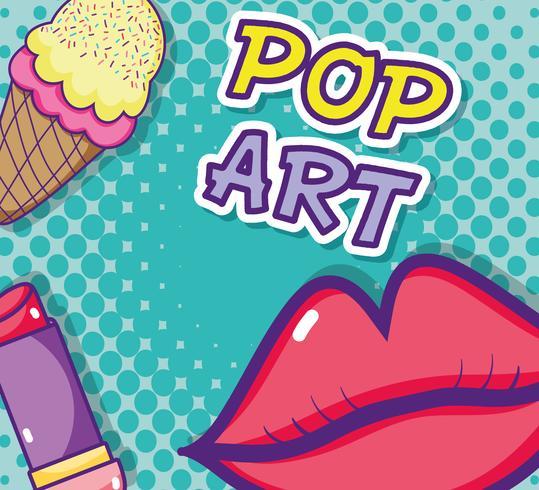 Kiss pop art cartoon