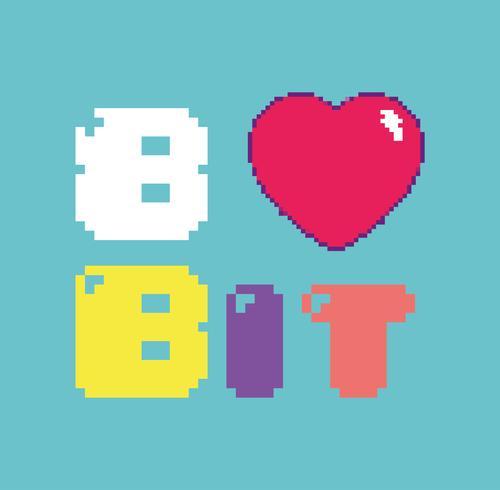Retro videospel 8-bitars koncept