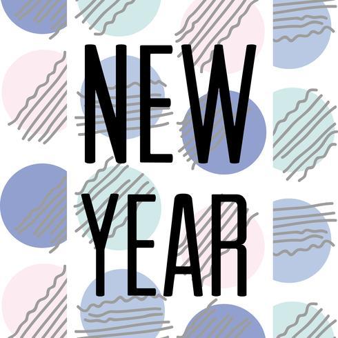felice anno nuovo celebrazione su sfondo di figure