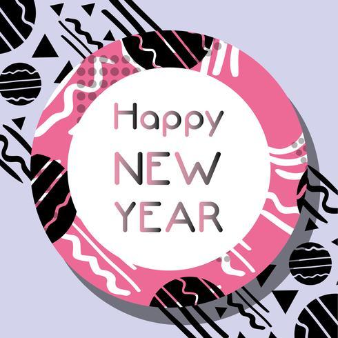 gelukkige nieuwe jaarviering over cijfersachtergrond