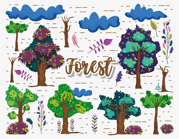 Vackra skogelement