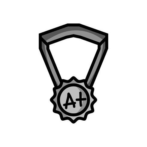 Graustufen Schulmedaille Symbol für intelligente Schüler