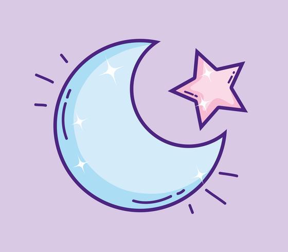 Cutem lune avec étoile