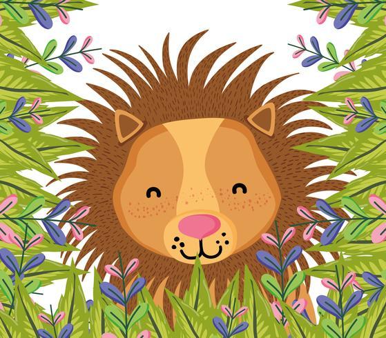 Schattige dieren leeuw cartoon