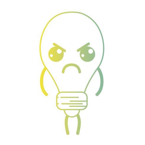 Linie kawaii nette verärgerte Birnenenergie