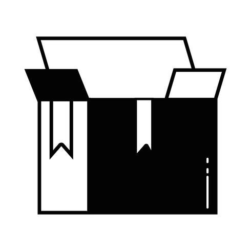 contorno caixa pacote objeto aberto design