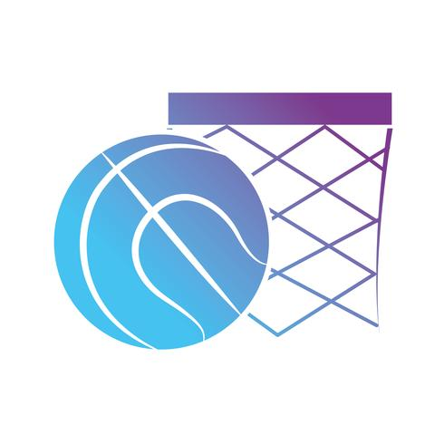 contour ball to play basketball sport