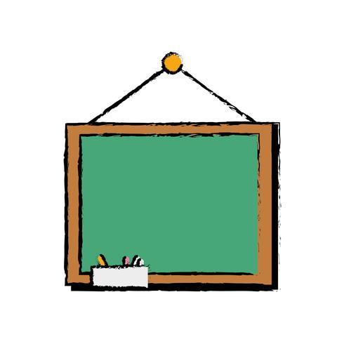 schoolbord met houten frame ontwerp