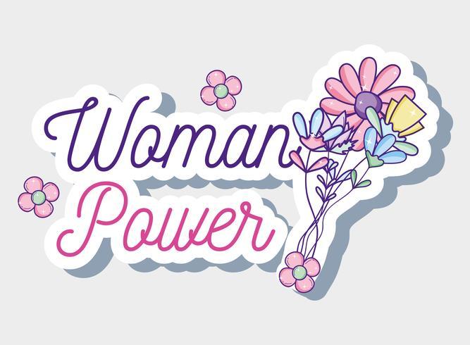 Frauenpower-Cartoon