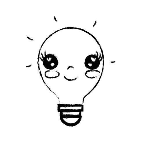 figura kawaii carina idea lampadina felice