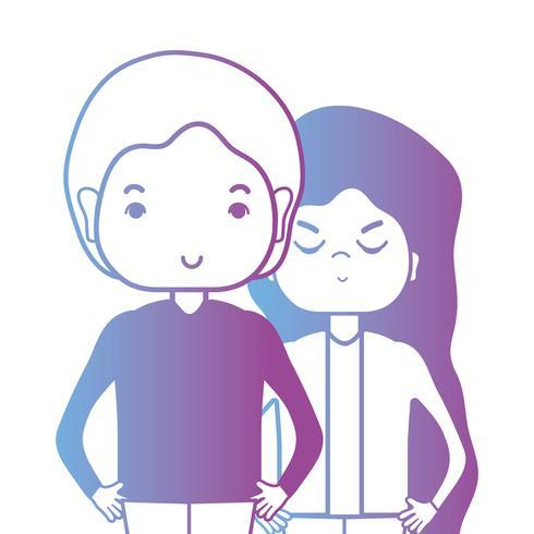 ligne couple togeter avec la conception de coiffure