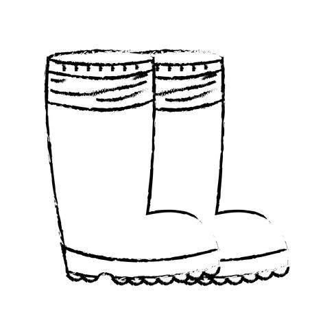 la figure bottes en caoutchouc objet aux pieds de protection