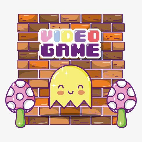 Retro videospel spöktecknad film
