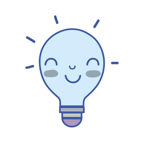 kawaii söt lycklig lampa idé