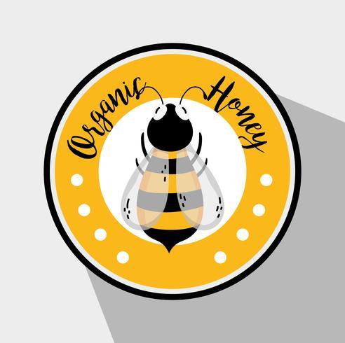 Organic honey label