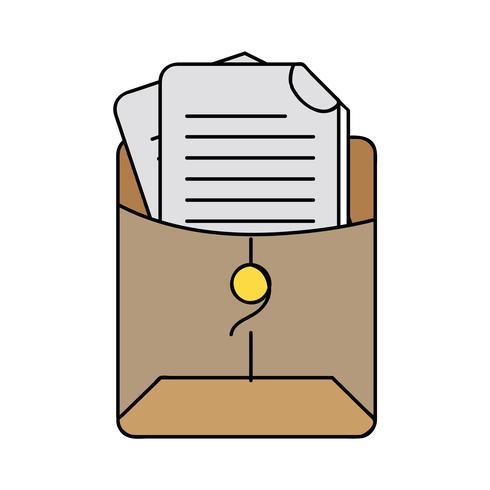 bestandsmap met bedrijfsdocumentinformatie vector