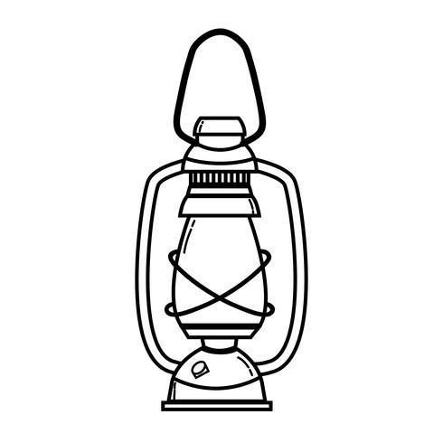 lijn oude lamp hand retro stijl