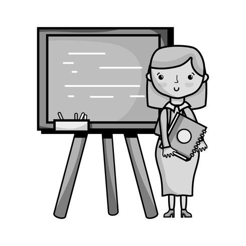 professor de escala de cinza dando aula de aula no backcoard