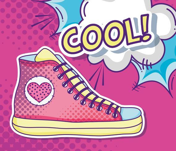 Coole Schuh-Pop-Art