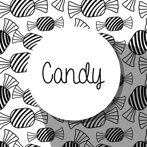 delicious sweet candy background design