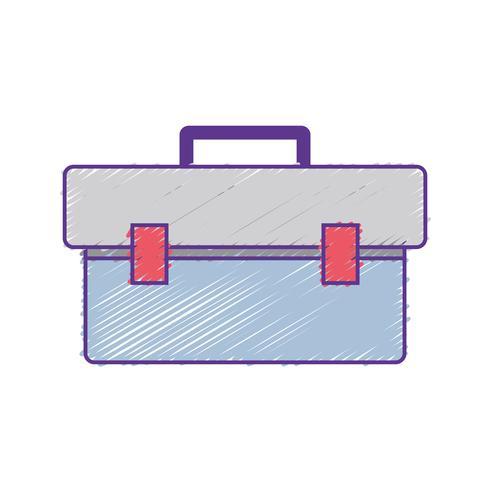 Caja de herramientas rallada para reparar la construcción. vector
