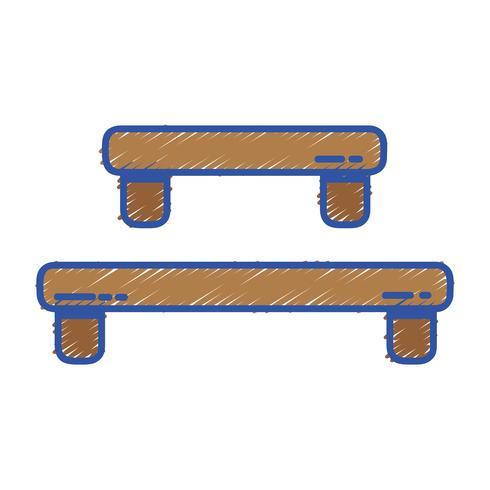 estante de madera doodle diseño de la mesa