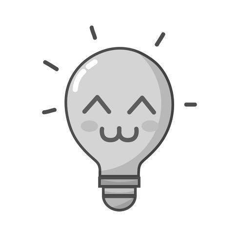 kawaii carina scala di grigi felice idea