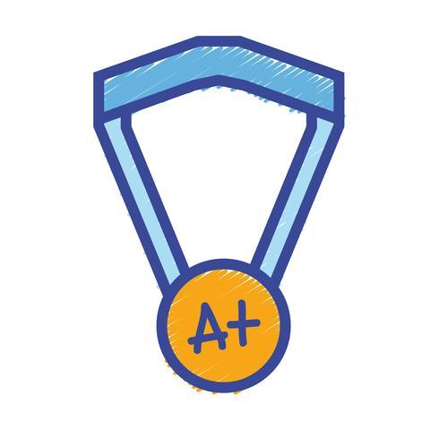 simbolo della medaglia scolastica per studente intelligente