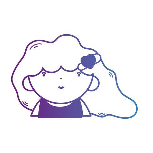 linea avatar ragazza con acconciatura e camicetta