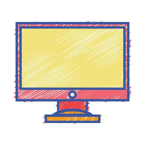 tecnologia eletrônica da tela de computador da cor