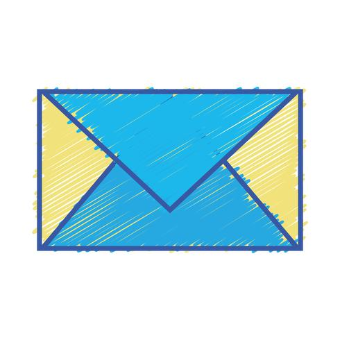cartão de cor carta fechada com informação de mensagem