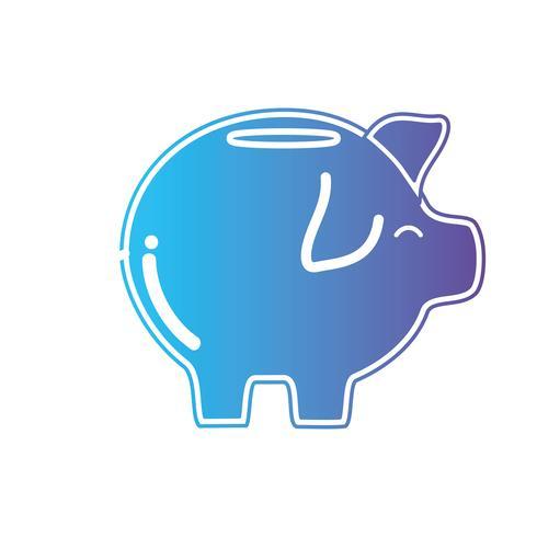 line pig to save cash money