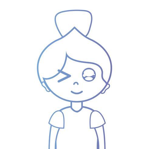 linha mulher com penteado e blusa