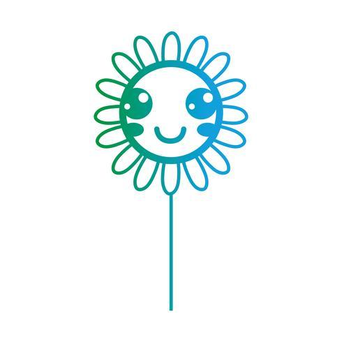 lijn kawaii schattig gelukkig bloem
